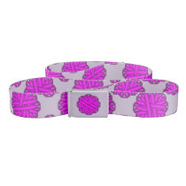 Purple Flower Ribbon Belt