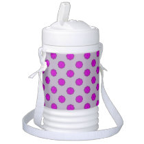 Purple Flower Ribbon Beverage Cooler