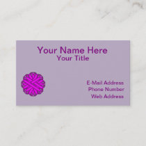 Purple Flower Ribbon Business Card