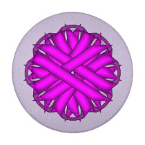 Purple Flower Ribbon Button Covers