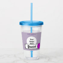Purple Flower Ribbon by Kenneth Yoncich Acrylic Tumbler