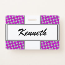 Purple Flower Ribbon by Kenneth Yoncich Badge