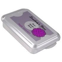 Purple Flower Ribbon by Kenneth Yoncich Cake Pan