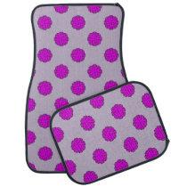Purple Flower Ribbon by Kenneth Yoncich Car Floor Mat