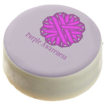 Purple Flower Ribbon by Kenneth Yoncich Chocolate Covered Oreo