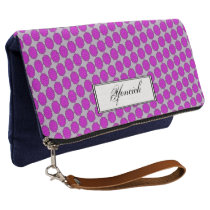 Purple Flower Ribbon by Kenneth Yoncich Clutch