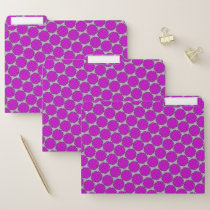 Purple Flower Ribbon by Kenneth Yoncich File Folder