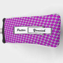 Purple Flower Ribbon by Kenneth Yoncich Golf Head Cover