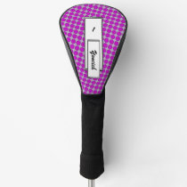 Purple Flower Ribbon by Kenneth Yoncich Golf Head Cover