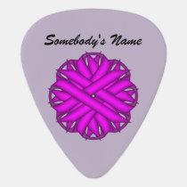 Purple Flower Ribbon by Kenneth Yoncich Guitar Pick
