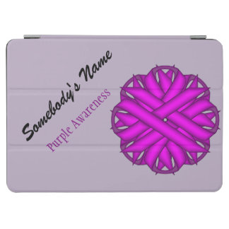 Purple Flower Ribbon by Kenneth Yoncich iPad Air Cover