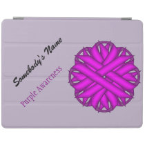Purple Flower Ribbon by Kenneth Yoncich iPad Smart Cover