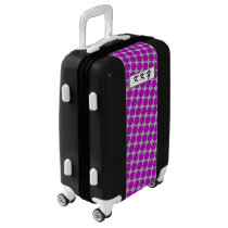 Purple Flower Ribbon by Kenneth Yoncich Luggage