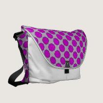 Purple Flower Ribbon by Kenneth Yoncich Messenger Bag