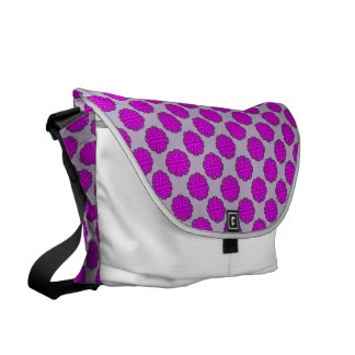 Purple Flower Ribbon by Kenneth Yoncich Messenger Bag