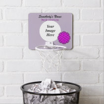 Purple Flower Ribbon by Kenneth Yoncich Mini Basketball Hoop