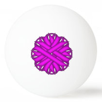 Purple Flower Ribbon by Kenneth Yoncich Ping Pong Ball