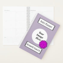 Purple Flower Ribbon by Kenneth Yoncich Planner