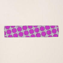 Purple Flower Ribbon by Kenneth Yoncich Scarf