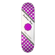 Purple Flower Ribbon by Kenneth Yoncich Skateboard Deck