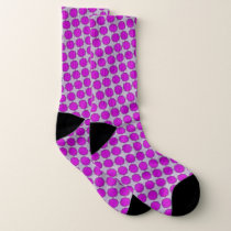 Purple Flower Ribbon by Kenneth Yoncich Socks