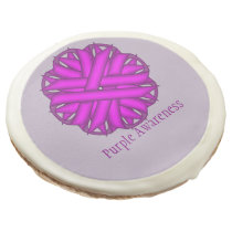Purple Flower Ribbon by Kenneth Yoncich Sugar Cookie