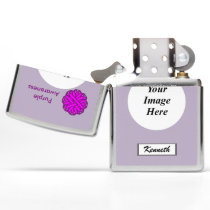 Purple Flower Ribbon by Kenneth Yoncich Zippo Lighter
