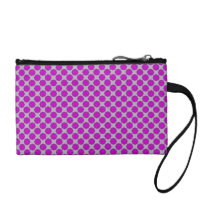 Purple Flower Ribbon Change Purse