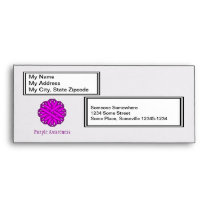 Purple Flower Ribbon Envelope
