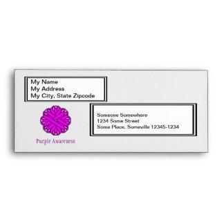 Purple Flower Ribbon Envelope
