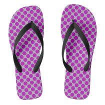 Purple Flower Ribbon Flip Flops