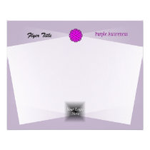 Purple Flower Ribbon Flyer