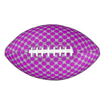 Purple Flower Ribbon Football