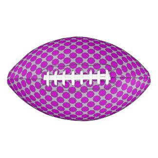 Purple Flower Ribbon Football