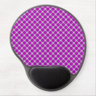 Purple Flower Ribbon Gel Mouse Pad