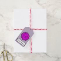 Purple Flower Ribbon Gift Tags