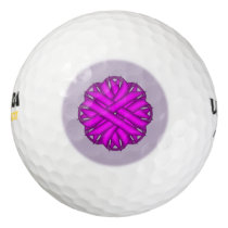 Purple Flower Ribbon Golf Balls