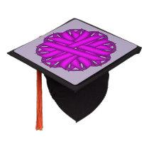 Purple Flower Ribbon Graduation Cap Topper