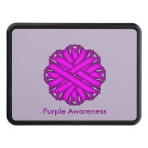 Purple Flower Ribbon Hitch Cover