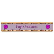 Purple Flower Ribbon Key Rack