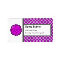 Purple Flower Ribbon Label