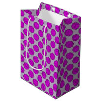 Purple Flower Ribbon Medium Gift Bag