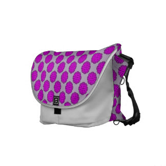 Purple Flower Ribbon Messenger Bag