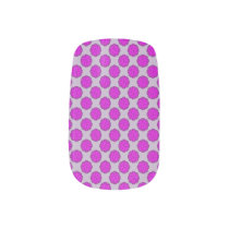 Purple Flower Ribbon Minx Nail Art