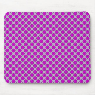 Purple Flower Ribbon Mouse Pad
