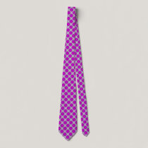 Purple Flower Ribbon Neck Tie