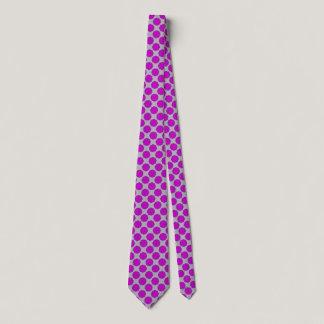 Purple Flower Ribbon Neck Tie