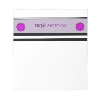 Purple Flower Ribbon Notepad