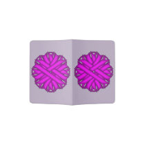 Purple Flower Ribbon Passport Holder
