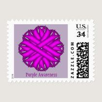 Purple Flower Ribbon Postage